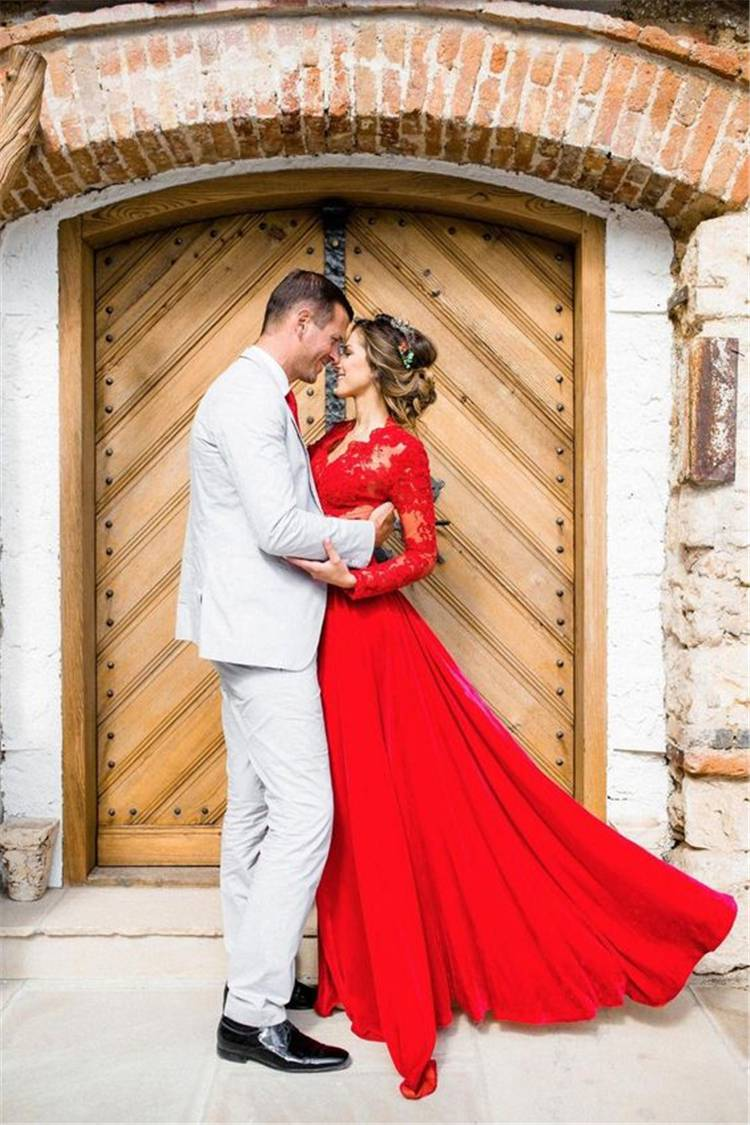 Gorgeous And Elegant Fall Wedding Dresses For Your Big Day;Gorgeous Wedding Dress; Breath Taking Wedding Dress; White Wedding Dress; Brand Wedding Dress; Off The Shoulder Lace Wedding Dresses; Lace Long Sleeves Wedding Dress; Fall Wedding Dress; Red Wedding Dress; Purple Wedding Dress #falldress #fallweddingdress#weddingdress #whiteweddingdress#longsleeveweddingdress #redweddingdress #mermaidweddingdress #purpleweddingdress