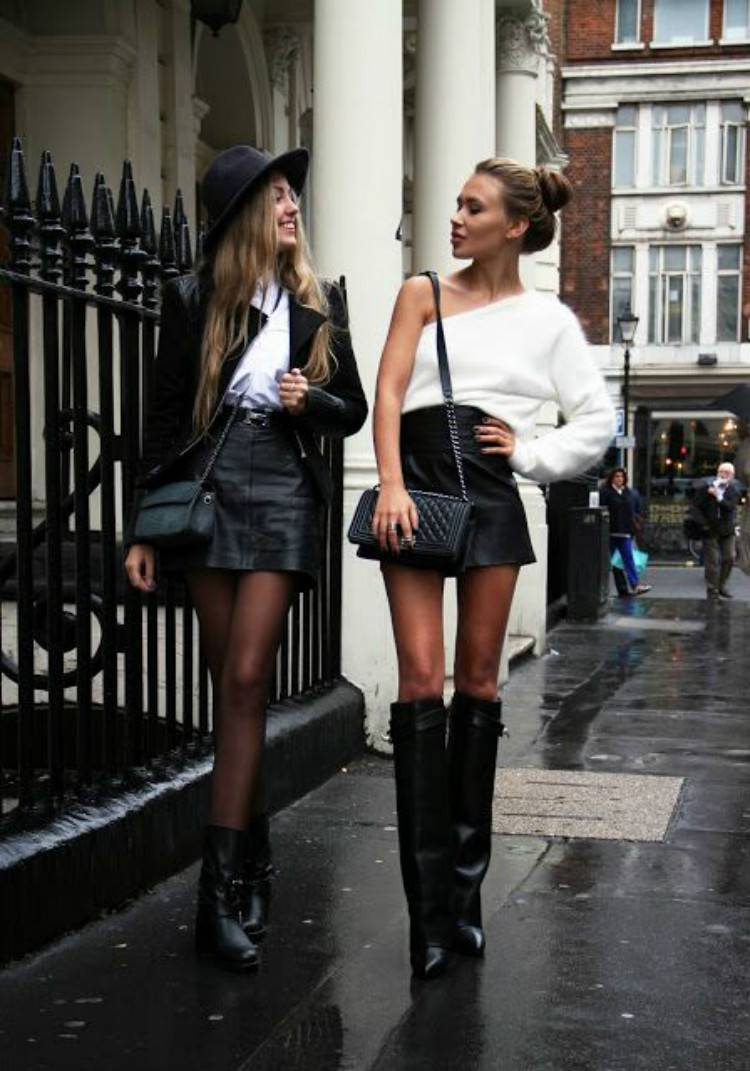 Gorgeous Winter Outfits To Make You Feel Wonderful; Winter Outfits; Outfits; Winter Coat; Leather Jacket; Leather Pants; Leather Skirt; Oversize Sweater; Winter Black Coat  #winteroutfit #outfits #leatherjacket #leathercoat #oversizesweater #leatherskirt #Leatherpants