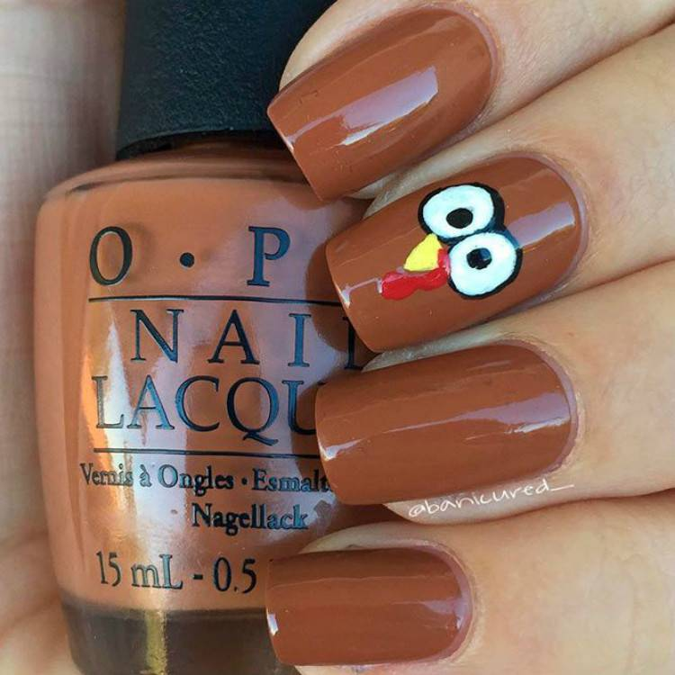 Cute Thanksgiving Nail Designs For Your Holiday Inspiration; Thanksgiving; Holiday; Thanksgiving Nails; Thanksgiving Nail Design; Nail Design; Cute Nails; Thanksgiving Turkey Nail; Thanksgiving Pumpkin Nails; #thanksgiving #thanksgivingnails #thanksgivingnaildesign #nail #naildesign #thanksgivingturkeynail #thanksgivingpumpkinnails