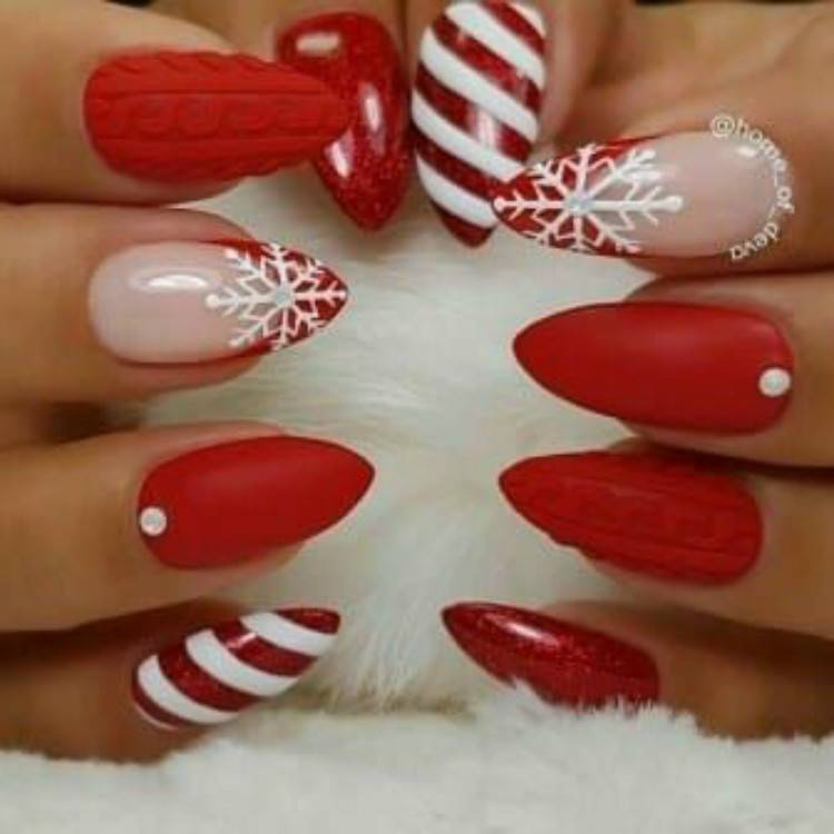 Pretty Christmas Red Nail Designs For The Big Holiday; Christmas Red Nails; Red Nails; Christmas Nails; Christmas Square Nails; Christams Coffin Nails; Christmas Almond Nail; Christmas Stiletto Nails; Holiday Nails #nails #nailsdesign #christmasnails #christmassquarenails #christmascoffinnails #christmasalmondnail #christmasstilettonails #holidaynails #holidayrednails #christmasrednails