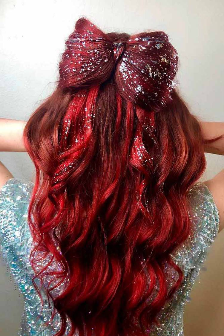 Gorgeous And Cute Christmas Hairstyle For Your Holiday; Christmas; Christmas Hairstyle; Hairstyle; Hair Idea; Half Up Half Down Hairstyle; Braided Hairstyle; Ponytail Hairstyle; Holiday Hairstyle; #christmas #christmashairstyle #christmashairideas #ponytail #braidedhairstyle #holidayhairstyle #halfuphalfdownhairstyle