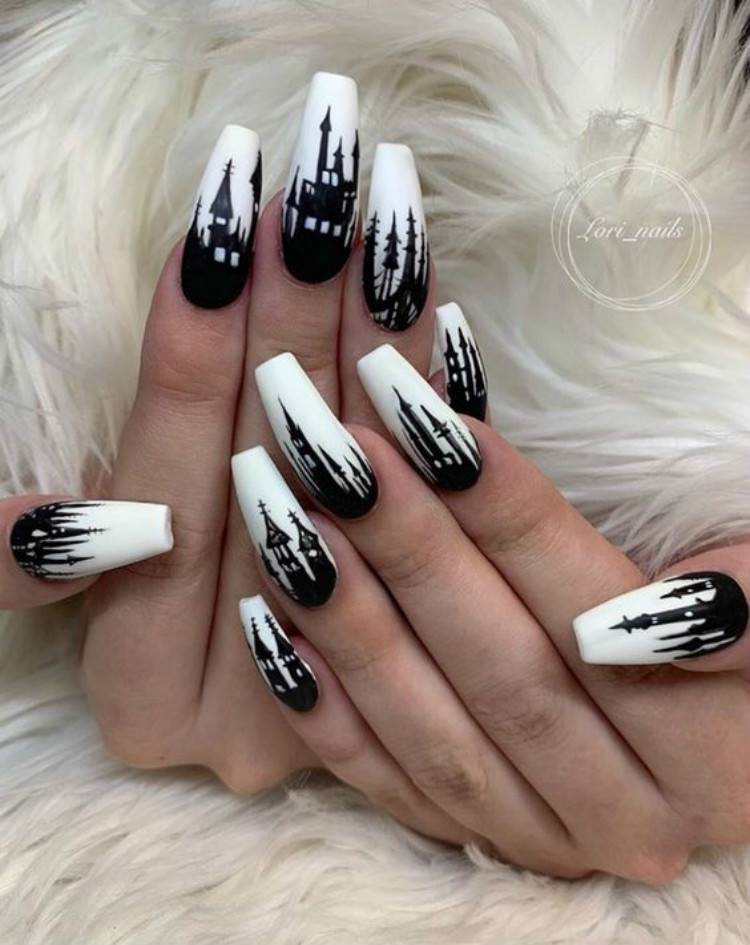 Stunning Arcylic Winter Coffin Nail Ideas For You; Winter Nails; Winter Coffin Nails; Coffin Nails; Arcylic Nails; Glitter Coffin Nails; Rhinestones Coffin Nails; Black And White Coffin Nails; #wintercoffinnails#coffinnails#arcyliccoffinnails#nails#blackandwhitecoffinnails#glittercoffinnails#rhinestonecoffinnails