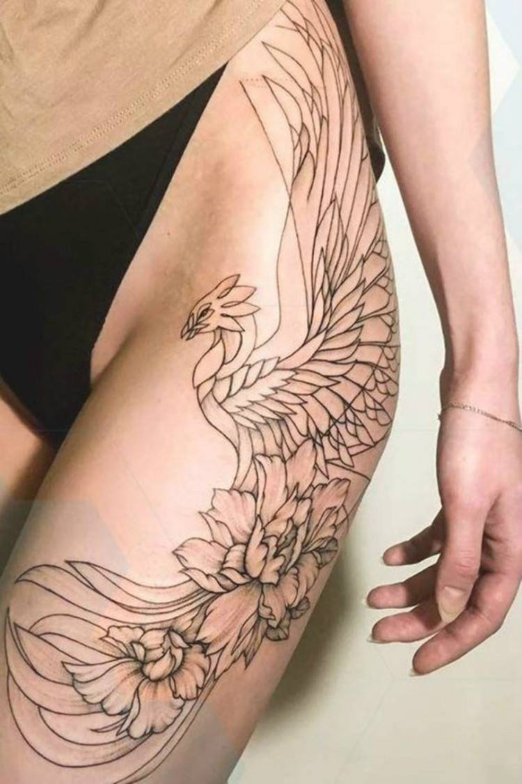 Gorgeous Phoenix Tattoo Designs You Must Love And Try; Phoenix Tattoo; Tattoo; Tattoo Design; Arm Phoenix Tattoo; Leg Phoenix Tattoo; Back Phoenix Tattoo; Thigh Phoenix Tattoo; Ankle Phoenix Tattoo #tattoo #tattoodesign #phoenix #phoenixtattoo #armtattoo #legtattoo #backtattoo #ankletattoo #thightattoo