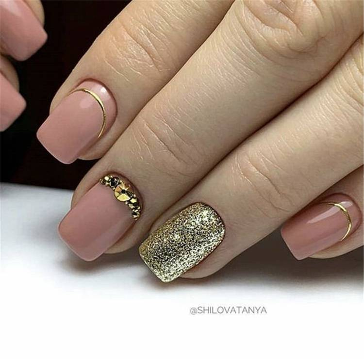 Gorgeous Winter Square Nail Designs You Must Love; Winter Nail; Square Nail; Nail; Nail Design; Short Square Nail; Galaxy Square Nail; Glitter Square Nail; Dot Nails; Forzen Nail Designs; Pink Square Nail; #squarenail #nail #naildesign #winternail #forzennail #pinksqaurenail #dotnails #glittersquarenail #galaxynails