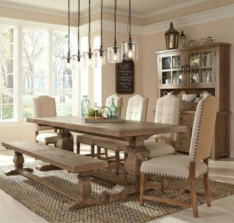Stunning And Cozy Dining Room Decoration Ideas You Must Love; Dining Room; Dining Room Decor; Home Decor; Rustic Dining Room; Farmhouse Dining Room Decor; Modern Dining Room; Boho Dining Room Decor; Cozy Dining Room #diningroom #homedecor #moderndiningroom #rusticdiningroom #chicdiningroom #apartmentdiningroom