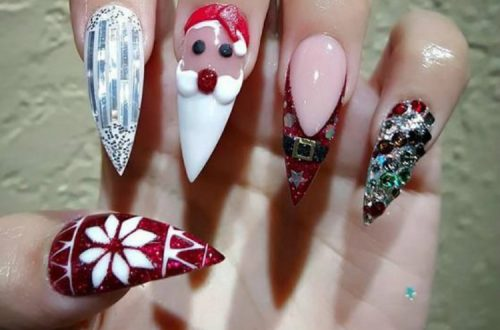 Adorable Christmas Nail Designs You Must Love; Christmas Red Nails; Red Nails; Christmas Nails; Christmas Square Nails; Christams Coffin Nails; Christmas Stiletto Nails; Holiday Nails #nails #nailsdesign #christmasnails #christmassquarenails #christmascoffinnails #christmasstilettonails #holidaynails #holidayrednails #christmasrednails