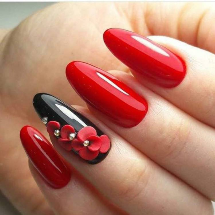 Gorgeous Red And Black Nails To Try In 2021; Black And Red Nail Art Designs; Nail; Nail Designs; Black And Red Nail; Nail Art Designs; Black And Red Nail Art Designs; #nail #nailart #blackandrednail #blacknail #rednail #blackandredsqaurenail #blackandredcoffinnail #blackandredstilettonail #stiletto #square #coffin