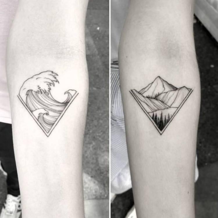 Best Valentine's Couple Matching Tattoo Designs You Need To Try; Couple Tattoo Ideas; Couple Tattoos; Matching Couple Tattoos;Simple Couple Matching Tattoo;Tattoos; Valentine's Day; Valentine's Tattoo#valentine's#valentine'stattoo#Tattoos#Coupletattoo#Matchingtattoo #matchingdottattoo #matchingcompasstattoo #matchingfingerprinttattoo #matchinganchortattoo