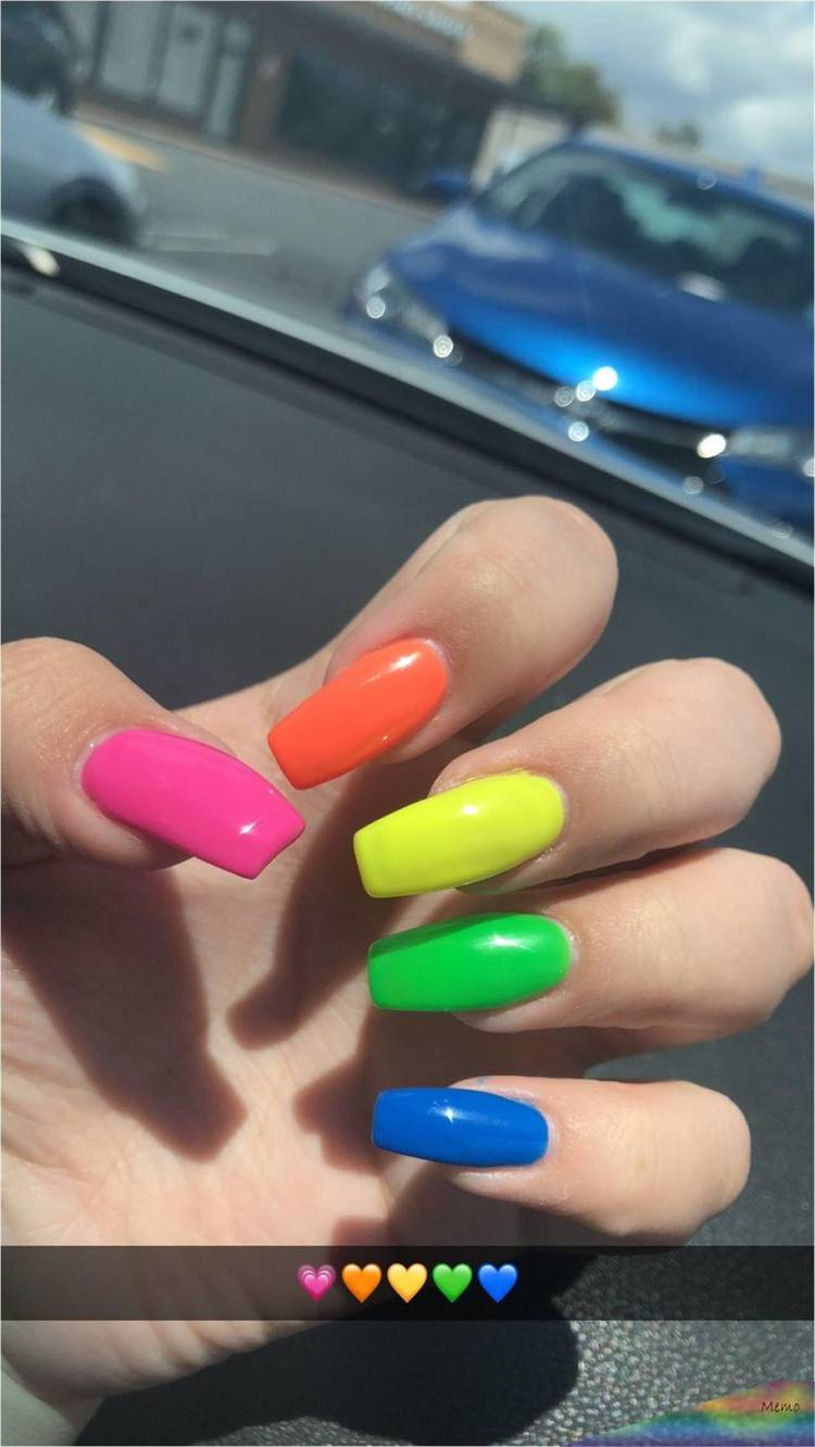 Amazing Rainbow Nail Designs To Make You Glam In Summer;Summer Nails; Rainbow Nails; Pride Nails; Colorful Nails; Summer Rainbow Nails; Pride Rainbow Nails; #nails #naildesign #rainbownails #pridenails #summernails #summerpridenails #summerrainbownails