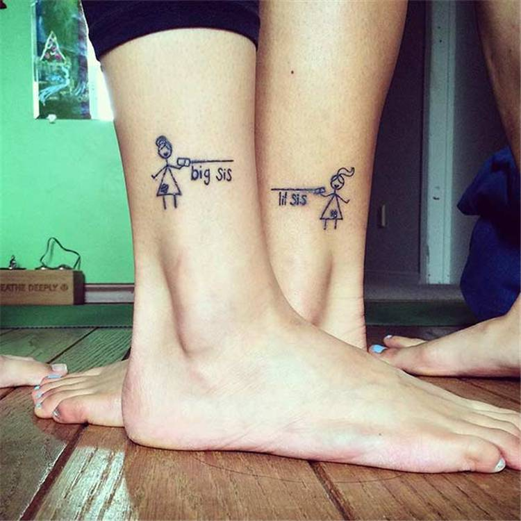 Cute Sister Tattoo Designs To Honor The Unbreakable Bond; Sister Tattoo; Tattoo; Tattoo Design; Sibling Tattoos; Cute Tattoo #sistertattoo #tattoo #tattoodesign #siblingtattoo #wristtattoo #ankletattoo #fingertattoo #fingersistertattoo