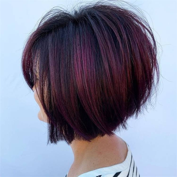 Stunning Hairstyles With Burgundy Hair Color You Would Love; Burgundy Hair Color; Hairstyles; Hair Color; Bob Hairstyle; Pixie Hairstyles; Long Wave Hairstyle; Cute Hairstyles; #bobhairstyle #pixiehairstyle #longwavehairstyle #cutehairstyle #hairstyle #burgundyhaircolor #haircolor #burgundy