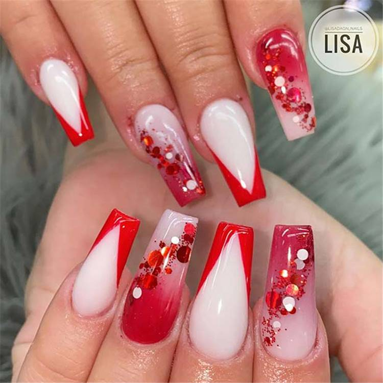 Gorgeous And Pretty Summer Ombre Nail Designs For You; Coffin Nails; Ombre Nails; Acrylic Nails; Ombre Acrylic Nails; Summer Ombre Acrylic Nails Designs; French Fade Nails; Red Ombre Nails; Yellow Ombre Nails; Purple Ombre Nails; #nailart #ombrenail #ombreacrylicnail #arcylicnails #coffinnails #redombrenails #purpleombrenails #redombrenails