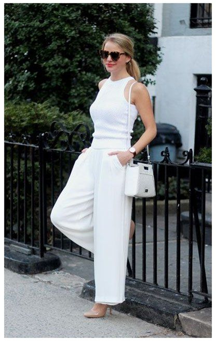 Gorgeous All White Outfits To Make You Glamorous; White Outfits; White Pants Outfits; Outfits; White Dress; One-piece Dress; White Shorts Outfits; #partyoutfits #outfits #whiteoutfits #whitepantsoutfits #whiteshortsoutfits #whitedress #summerwhiteoutfits #summeroutfits