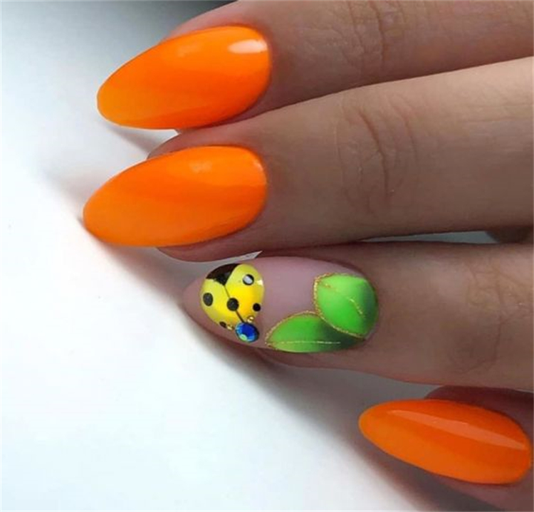 Pretty Neon Orange Nail Designs You Must Try; Neon Orange Nail; Nail; Nail Design; Neon Orange Sqaure Nail; Neon Orange Coffin Nail; Neon Orange Stiletto Nail; Neon Orange Almond Nail; #nail #naildesign #neonorangenail #neonorangesqaurenail #neonorangecoffinnail #neonorangestilettonail #neonorangealmondnail
