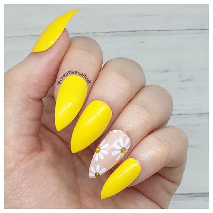 Amazing Stiletto Nail Designs You Need To Copy Now; Stiletto; Stiletto Nail; Nail; Nail Design; Pink Stiletto Nail; Yellow Stiletto Nail; Green Stiletto Nail; White Stiletto Nail; Black Stiletto Nail; #nail #naildesign #nailart #stiletto #stilettonail #pinkstilettonail #yellowstilettonail #blackstilettonail #greenstilettonail