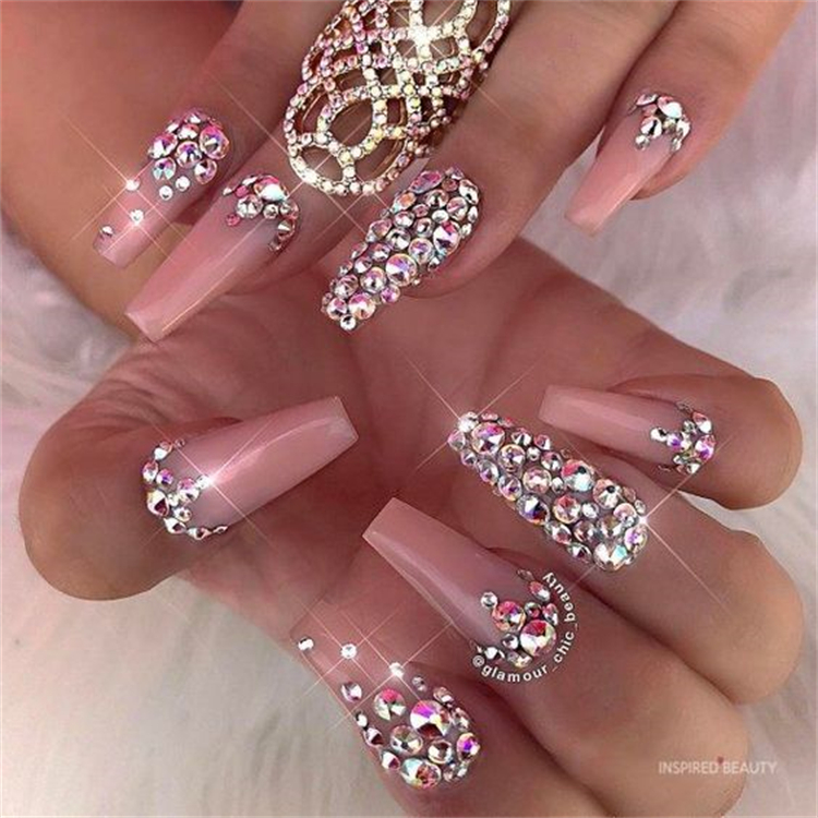 Luxury Nail Designs To Make You Look Stylish And Glam; Luxury Nail; Nail; Nail Design; Chanel Nail Design; LV Nail Design; Gucci Nail Design; Coffin Nail; Stiletto Nail; #luxurynail #nail #naildesign #guccinail #lvnail #chanelnail #stilettonail #coffinnail