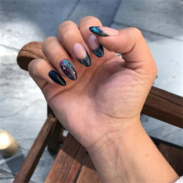 Stunning Galaxy Nail Designs You Must Fall In Love With; Galaxy Nail; Nail; Nail Design; Space Nail Design; Galaxy; Galaxy Coffin Nail; Galaxy Stiletto Nail; Galaxy Sqaure Nail #nail #naildesign #galaxy #galaxynail #galaxynaildesign #galaxycoffinnail #galaxystilettonail #galaxysqaurenail