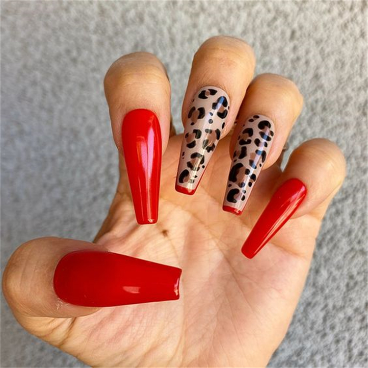 Hottest Red Nail Design To Make You Sexier; Red Nail; Red Nail Design; Matte Red Nails; Floral Red Nails; Glitter Red Nails; Trendy Red Nails; Nails; Nail Design; Coffin Red Nail; Stiletto Red Nail; Square Red Nail #rednails #rednaildesign #glitterrednails #matterednails #nail #naildesign #coffinrednail #squarerednail #stilettorednail