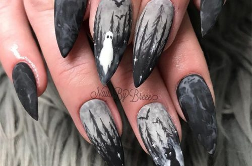 Scary Halloween Nails You Need For The Coming Holiday; Coffin Nail; Acrylic Coffin Nail; Nail; Nail Design; Halloween Nail; Halloween Nail Design; Halloween Scary Nail; Ghost Nail; Pumpkin Nail; Spider Nails #squarenail#shortsquarenail#nail#naildesign#halloweennail#scaryhalloweennail#ghostnail#pumpkinnails#skullnails