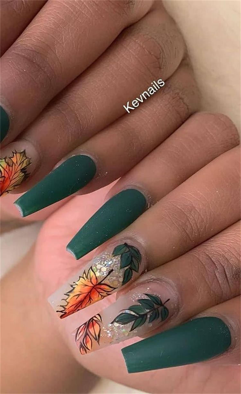 Most Beautiful Fall Nail Designs To Conquer Your Heart; Fall Nail; Fall Nail Design; Nail; Nail Design; Fall Pumpkin Nail; Fall Leave Nail; Plaid Nail; Fall Plaid Nail; #nail #naildesign #fallpumpkinnail #fallleavenail #fallplaidnail #plaidnail #leavenail #pumpkinnail