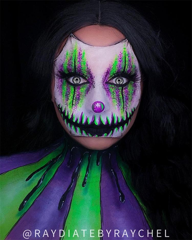 Scary Halloween Makeup Looks To Enjoy The Coming Holiday; Halloween Makeup; Halloween; Clown Halloween Makeup; Skeleton Halloween Makeup; Scary Pumpkin Halloween Makeup; Spider Halloween Makeup; Vampire Halloween Makeup #halloween #halloweenmakeup #makeup #scarymakeup #spidermakeup #clownmakeup #pumpkinmakeup #vampiremakeup