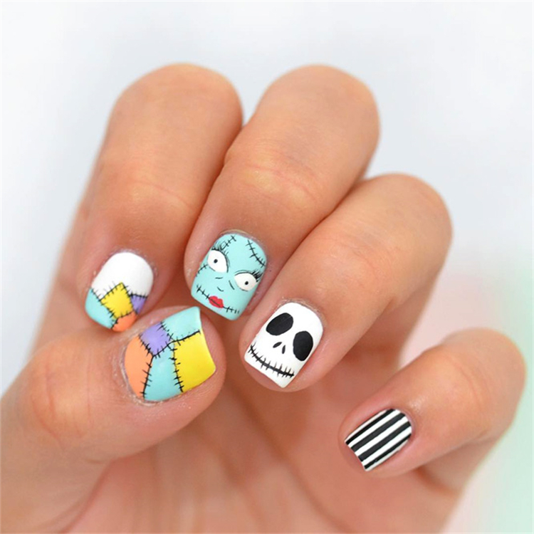 Stylish And Unique Halloween Nail Designs To Skip Your Heart; Scary Halloween Nails You Need For The Coming Holiday; Coffin Nail; Acrylic Coffin Nail; Nail; Nail Design; Halloween Nail; Halloween Nail Design; Halloween Scary Nail; Ghost Nail; Pumpkin Nail; Spider Nails; Jack Skellington Nail;#squarenail#shortsquarenail#nail#naildesign#halloweennail#scaryhalloweennail#ghostnail#pumpkinnails#skullnails #jackskellingtonnail