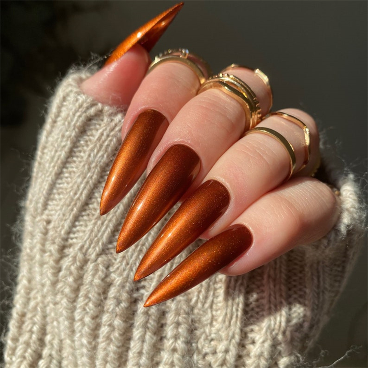 Gorgeous Fall Nail Designs To Make You Look Stunning; Fall Nail; Autumn Nail; Fall Nail Design; Nail Design; Fall Square Nail; Fall Coffin Nail; Fall Almond Nail; Fall Stiletto Nails; Nails; Fall Nail Color #fallnail #fallnaildesign #autumnnail #nail #falllongnails #fallsquarenail #fallstilettonail #fallcoffinnail #coffinnail
