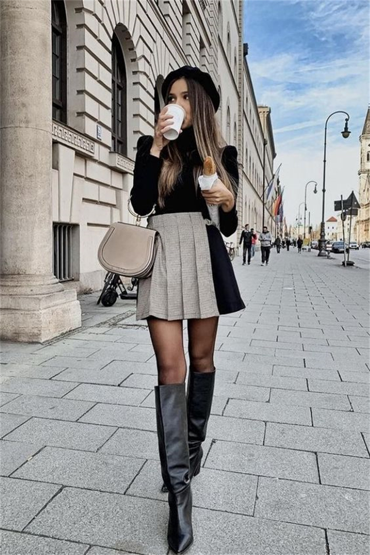 Elegant Fall Outfit Ideas To Give You A Flawless Look; Fall Outfits; Outfits; Fall Skirt; Fall Dress; Fall Jeans; Fall Outfits Ideas; Skirt; Dress; Jeans Outfits; #falloutfits #outfits #fallskirt #falldress #falljeans #skirt #dress #jeansoutfits
